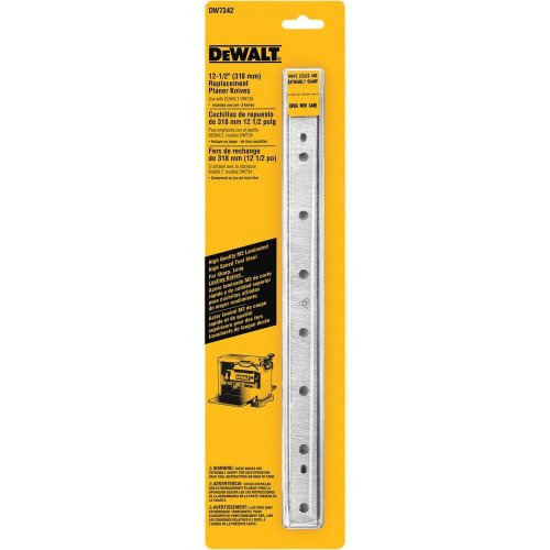 12-1/2 in. Steel Disposable Reversible Planer Knives for DEWALT DW734 Planers (3-Pack) (DW7342)