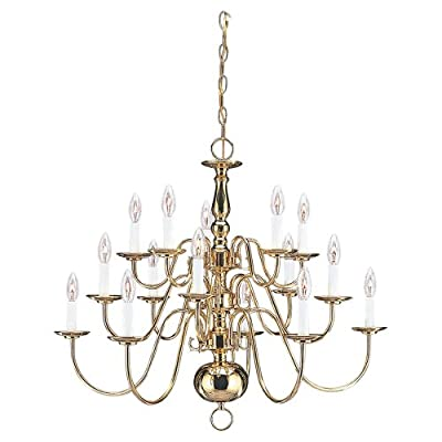 Sea Gull Lighting Fifteen-Light Traditional Chandelier with Optional Shades