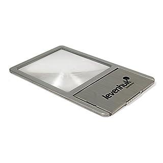 Levenhuk Zeno 90 Compact Fresnel Lens – Pocket Magnifier with LED Illumination