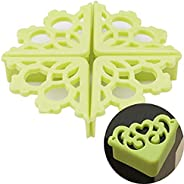 Bvengu Hollow Silicone Flower Table Corner Protector Child Safety Corner Baby Bumper Corner Table 4 Pack (Gree