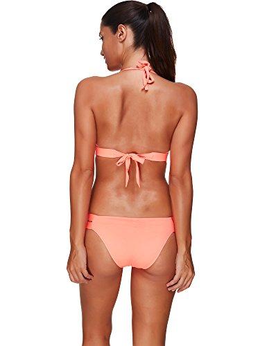 Baron Hong de las mujeres del traje de baño de dos piezas traje de baño atractivo del color sólido del verano del bikini color