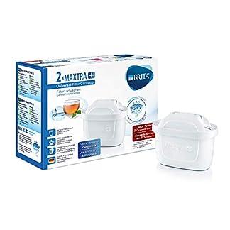 BRITA Wasserfilter-Kartusche MAXTRA+ 2er Pack – Kartuschen für alle BRITA Wasserfilter zur Reduzierung von Kalk, Chlor & geschmacksstörenden Stoffen im Leitungswasser 2