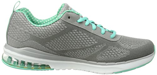 Skechers Sport Damen Air Infinity Fashion Sneaker Grauer Türkis