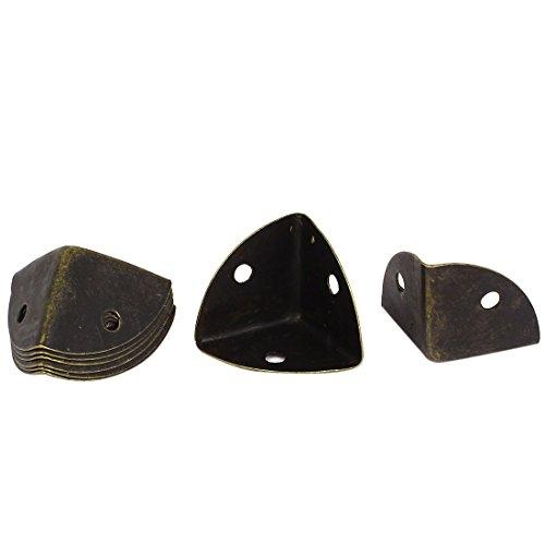 25 mm (ton métal Bronze boîte d'armoire garde Lot de 8 protections d'angles