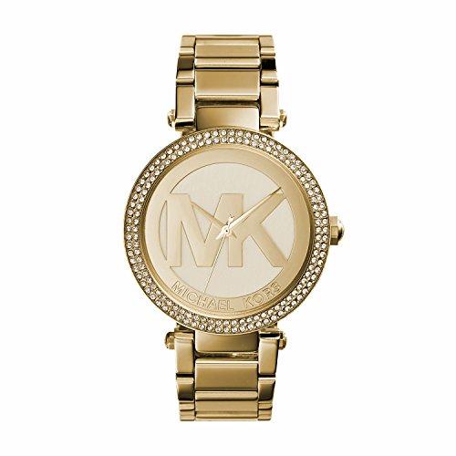 Michael Kors MK5784 Ladies All Gold Logo Parker (Logo Sport Steel Watch)