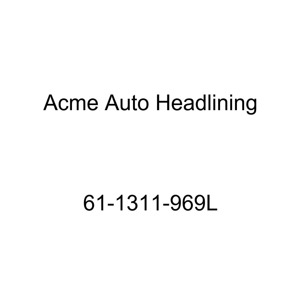 Acme Auto Headlining 61-1311-969L Black Replacement Headliner 1961 Cadillac DeVille 2 Door Hardtop 4 Bow