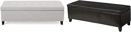 Christopher Knight Home Mission Fabric Storage Ottoman