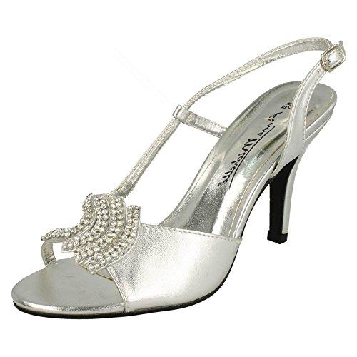 Spot on Damen Peep Toes, Silber - Silber - Größe: