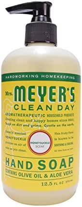 Mrs. Meyer's Clean Day Liquid Hand Soap, Honeysuckle, 12.5 Fluid Ounce