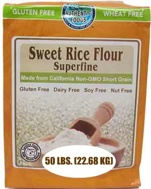 Authentic Foods Sweet Rice Flour, Superfine - 50 lb by Authentic Foods