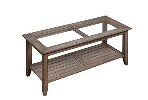 Convenience Concepts Carmel Coffee Table, Driftwood (Quality Furniture Rubberwood)