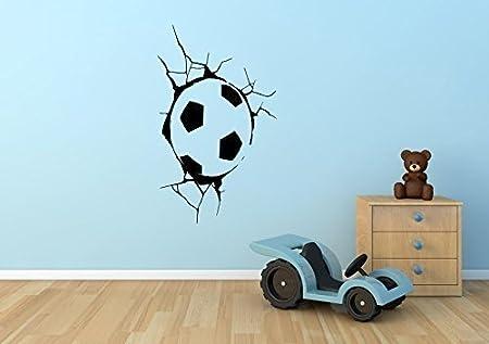 Pegatina Mural Decorativa con Diseño de Balón de Fútbol Atorado en ...