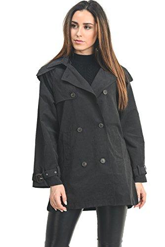 (Instar Mode Women's Anorak Safari Hoodie Jacket up to Plus Size (JK50711 Black, Small))