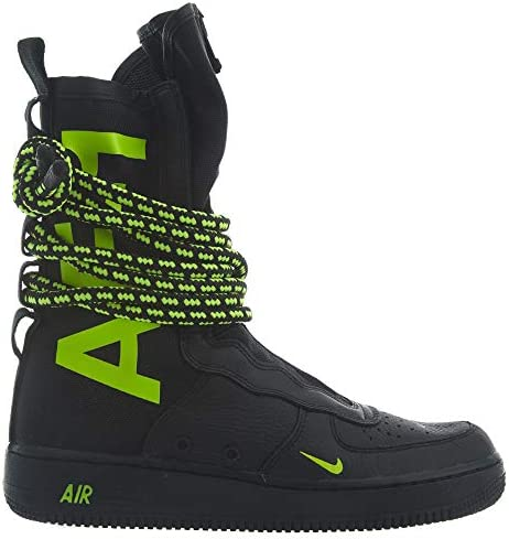 Nike SF Air Force 1 Hi Uomo, Black Volt Black   Graffitishop