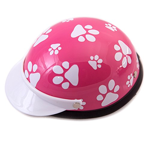 - Prima Dog Helmets for Dogs, Cats, and All Small Pets - Pink Paws for small dogs 5-10 lbs. (9-11
