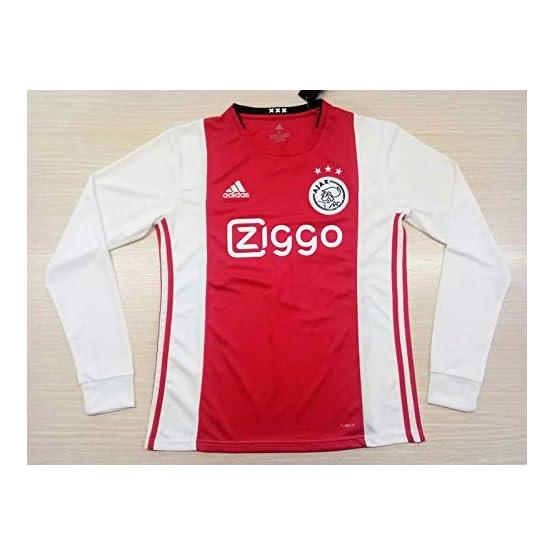 Peak AJAX Amsterdam Home Long Sleeve Soccer Jersey Maillot 2019-2020