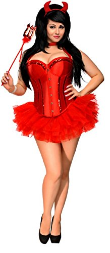 Daisy Corsets 4 PC Glitter Devil Sexy Women's Costume