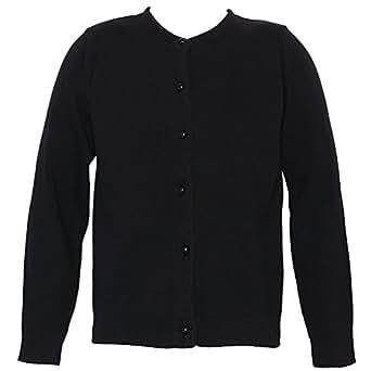 Julius Berger Girls 16 Black Pearled Button Cardigan Sweater