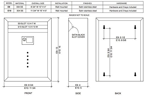Wall Mounted Mailbox with Lock Color: Stainless Steel, Size: Small (13'' H x 8.5'' W x 4''D)