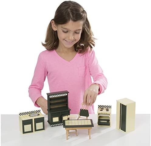 toys, games, dolls, accessories, dollhouse accessories,  furniture 8 picture Melissa & Doug Doll-House Furniture- Kitchen Set in USA