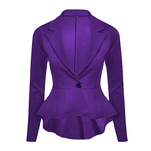 Friendz nbsp; Et Coupe women Purple Manches Longues À Trendz Slim Blazer qn4xwqUrzR