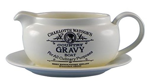 Charlotte Watson Country Collection in Cream Gravy Boat with Stand Henry Watson USA 648