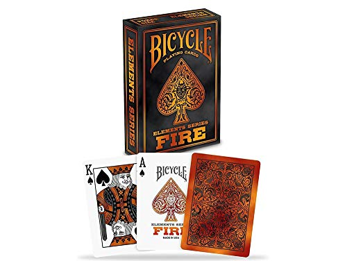 Deck Card Designs - Bicycle Fire Element Playing Cards