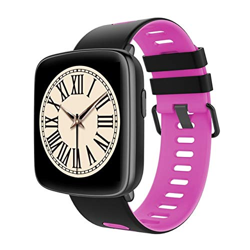 Kimmy  GV68スマートウォッチ防水ip68心拍数モニターbluetooth smartwatchスイミングで交換可能なストラップ用ios android ピンク  ピンク B07QJF4WWD