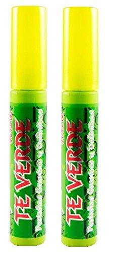 2x Rimel GREEN TEA BiocoSmetic Black Negro Mascara De Pestanas Grandes Y Definidas TE VERDE Waterproof