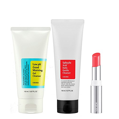 [COSRX] Low Ph Good Morning Gel Cleanser 150ml + Salicylic Acid Daily Gentle Cleanser 150ml (Gift: Age 20's Almost Fit Lip-Stick) // Made in Korea