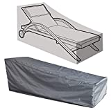 Kaxich Sun Lounger Cover, Waterproof Outdoor Garden Sunbed Recliner Protective Cover Patio Furniture Cover 208 x 76 x 41/79cm (82' Lx30 Wx16/31 H)