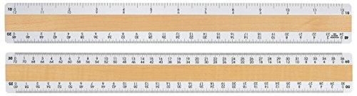 Woodrow 12'' Civil Engineering 4 Bevel Wood Ruler by Woodrow