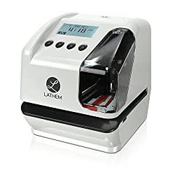 Lathem LT5000 Electronic Multi-Line Time, Date and Numbering Document Stamp, Can Be Wall Mounted (Screws Included) (LT5000)