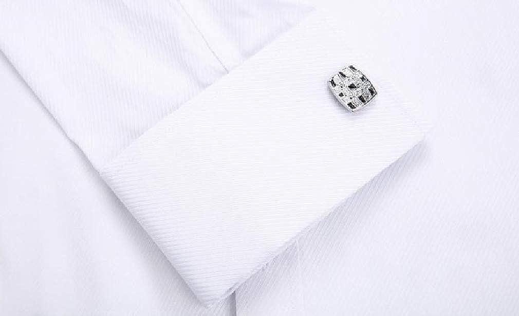 DressU Mens Career Button Long Sleeve Pockets Solid Dress Shirts Tops
