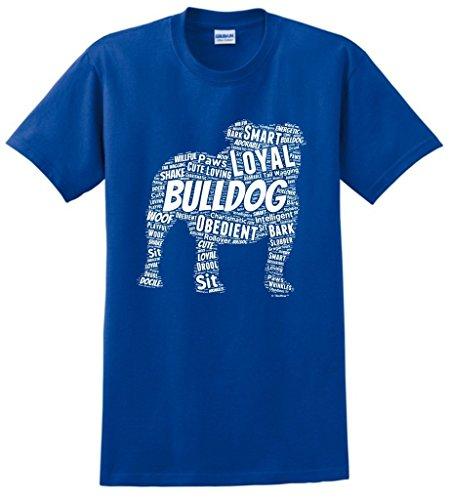 Dog Clothes English Bulldog Word Art Dog Puppy Owner Gift T-Shirt Small Royal