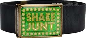 Shake Junt Logo Webbed Scout Belt Black