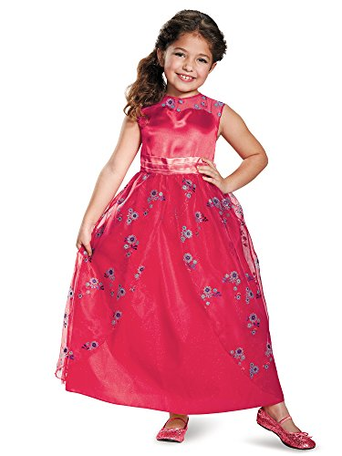 Elena Ball Gown Classic Elena of Avalor Disney Costume, (Halloween Ball Gowns)