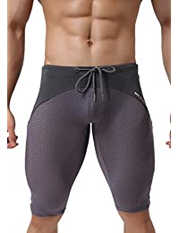 Breathable Running Training Pants Extended Length Compression Shorts 2227