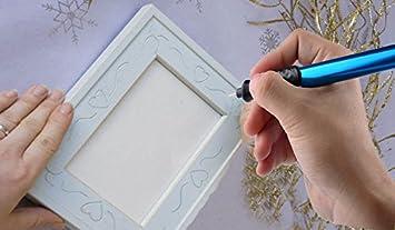 BOVER BEAUTY ?Or Petite cl/é 2Pcs t/ête Pen Bricolage /électrique Gravure Graveuse Pen Carve Outil pour Les Bijoux en Verre M/étal Pen Gravure /électrique