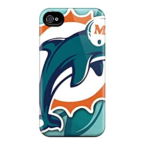 Durable Cell-phone Hard Cover For Iphone 4/4s (tOa14658NNHy) Allow Personal Design Trendy Miami Dolphins Image