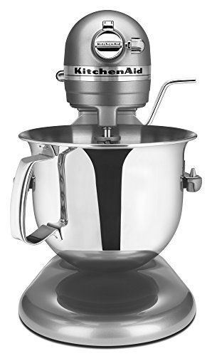 KitchenAid Professional 6000 HD KSM6573CCU Stand Mixer, 6 Quart, Contour Silver (Aid Hd Professional Kitchen Mixer)