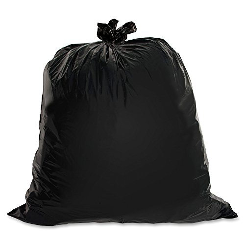 (Genuine Joe GJO01534 Heavy Duty Low-Density Puncture Resistant Trash Bag, 45 Gallon Capacity, 46