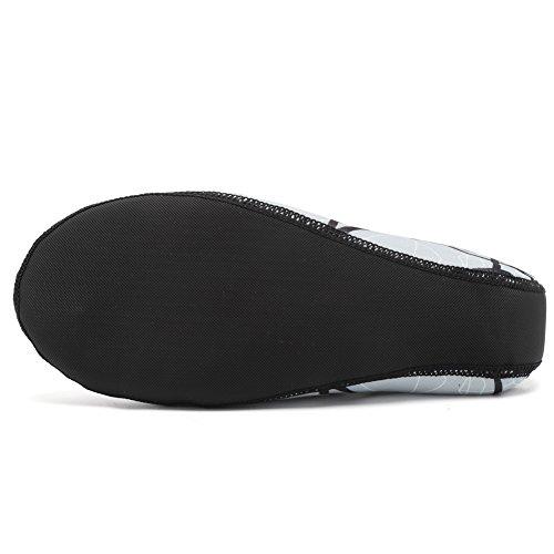 CIOR 3. Verbesserte Version Durable Sohle Barfuß Wasser Haut Schuhe Aqua Socken für Beach Pool Sand Schwimmen Surf Yoga Wassergymnastik 04.grau