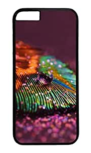 MOKSHOP Adorable Dew feather Hard Case Protective Shell Cell Phone Cover For Apple Iphone 6 Plus (5.5 Inch) - PC Black by lolosakes
