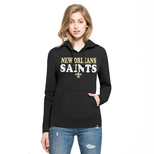 NFL New Orleans Saints Women's '47 Headline Pullover Hoodie, Small, Jet Black