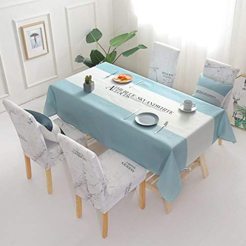 ROGEWIN Chair Covers 2/4/6 pcs Spandex Elegant Stretch Anti-Dirty Waterproof Rectangle Tablecloths Dining Room Slipcovers ()