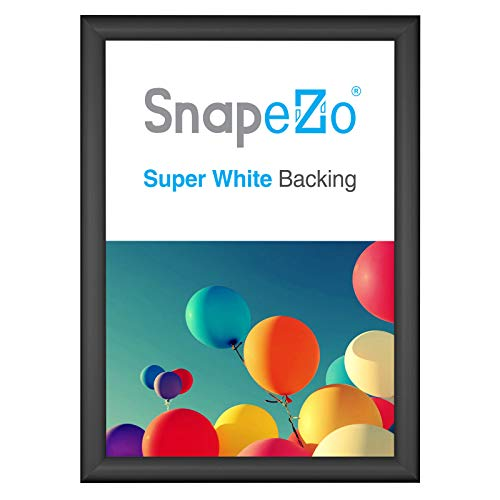 SnapeZo Document Frame A3 Size (11.7 x 16.5 inches), Black 1 Aluminum Profile, Front-Loading Snap Frame, Wall Mounting, Sleek Series