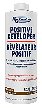 MG Chemicals 418 Positive Developer Liquid, 475 ml Bottle.