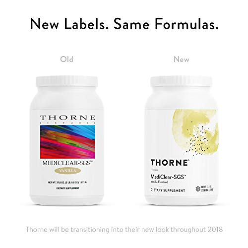 Thorne Research - MediClear-SGS (Vanilla) - Detox, Cleanse, and Weight Management Support - Rice and Pea Protein-Based Drink Powder with a Complete Multivitamin-Mineral Profile - 37.8 oz. by Thorne Research (Image #2)