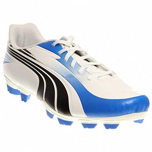 Puma Excitimo I FG Firm - Botas de fútbol, color blanco y azul